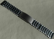 New Mens Timex Ironman Triathlon Stainless Steel Black 18mm Clasp Watch Band