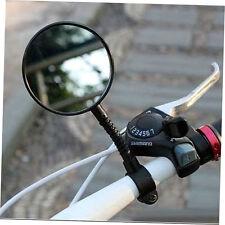 1pc Bike Bicycle Handlebar Flexible Rear Back View Rearview Mirror Black zp
