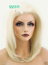 Lace Front Wig New Fashion Charm Womens Short Platinum Blonde Straight Full wigs