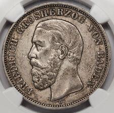 1900 G GERMANY Baden Five 5 Mark Silver Coin NGC XF40 KM #268 Friedrich I XF+