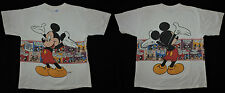 RARE Vtg Mickey Mouse Walt Disney All Over Print Wrap Around Comic Strip T-shirt