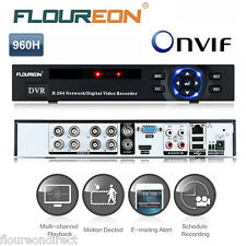 FLOUREON 8 CH Onvif 960H 1080P DVR HDMI H.264 CCTV Security Video Recorder NVR