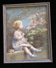 """Vintage Print """"The Song of Happiness"""" by Annie Benson Muller"""