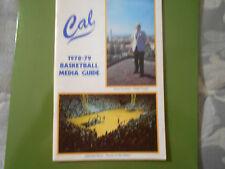 1978-79 CAL BASKETBALL MEDIA GUIDE Yearbook 1979 Program California Book AD