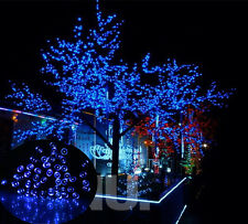 12M 100LED Blue Solar Lights Christmas Party In/Outdoor Decoration Bulb Wedding