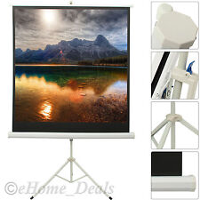 Portable 125 x 125cm Projection Screen Matt Pull Down Tripod HD Projector Screen
