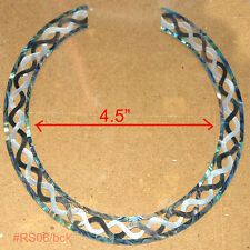 RS6# Rosette Inlay Black White Mother of Pearl & Paua Abalone 1.5mm thickness