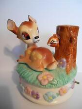 Beautiful BAMBI Music Box by Schmid ~ DISNEY ~ It's A Small World ~ EXCELLENT!!!