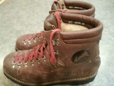 Vintage Lowa Germany Men's Size 11 Brown Leather Alpine Mountain Hiking Boots
