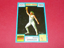 N°37 ADOLF SPINNLER PANINI OLYMPIA 1896 - 1972 JEUX OLYMPIQUES OLYMPIC GAMES
