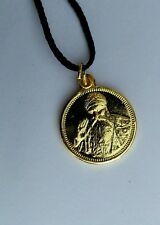 Small Punjabi Sikh Guru Nanak Ji 1 Ek Onkar Pendant in black thread necklace C10