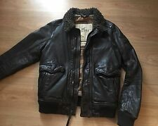 Men's Hollister Palm Canyon Pilota Di Volo ma-1 100% Genuine Leather JKT SZ M