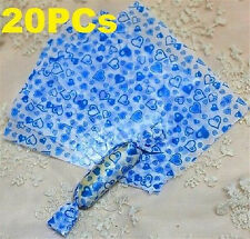 FD3833 Candy Blue Hearts Wrapping Waxed Waterproof Paper Baking Decor 20PCs ♫