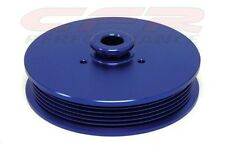 Mustang GT with 5.0 V8 Anodized Blue Billet Aluminum Power Steering Pulley