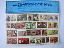 Miniature Dollhouse Book Covers Sheet of 20 Antique Replica New in Package