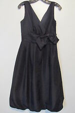 HUNTERS AND GATHERERS Black Sleeveless Mid-Calf Balloon Hem Silk Dress SIZE:S