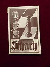 Buch, Praktischer Leitfaden des Schachspiels, Reinhold Anton, Hildesheim 1950