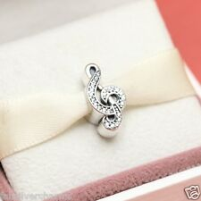 New! Authentic Pandora Sweet Music 791381CZ Treble Clef Note Charm With Box
