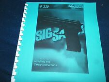 SIG SAUER ARMS, P229,   OWNERS MANUAL,   28 PAGES
