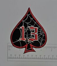 Ace of Spades - Club Harley Biker Funny Motorcycle Iron On Small Patch