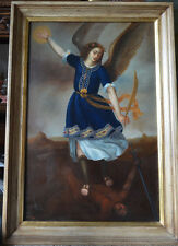 ARCHANGEL ANGEL MICHAEL OIL PAINTING SPANISH COLONIAL ART SANTO CUZCO SCHOOL
