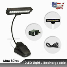 Pro Flexible USB/Chargeable 10LED Light Clip-on Table/ Desk/ Bed Light Lamp