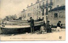 CP 06 Alpes-Maritimes - Côte d'Azur - Départ pour le Pêche préparant les Amorces