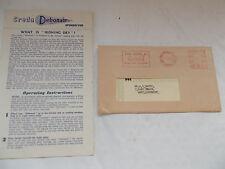 Creda Debonair Spindryer Instruction Booklet & Guarantee Dated 1959 -Simplex