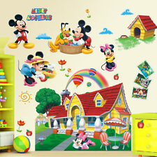 Large 3D Mural Mickey Mouse Clubhouse Wall Sticker Decal Kids Nursery Home Decor
