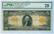 1922 Pmg Vf 20 $20 Gold Certificate Lot 628