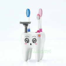 Tooth Shaped 4 Holes toothbrush Stand Shaving Razor Stand Bathroom Accessory