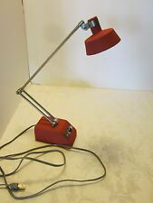 RETRO TENSOR DESK LAMP LIGHT EXTENDABLE ARM RED CHROME Japan 1950's MID CENTURY