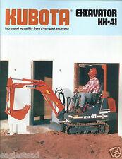 Equipment Brochure - Kubota - KH-41 - Excavator - c1989 (E2918)