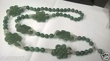 China Antique six Double knot shape and a lot beadas Jade necklace同心结形和珠子玉项链