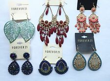 NWT Wholesale C lot 6 pairs Forever 21 rhinestone teardrop chandelier earrings
