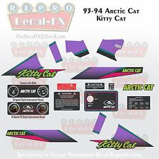 1993-94 Arctic Cat Kitty Cat Graphics Decal Reproduction Full Kit 17 Pieces