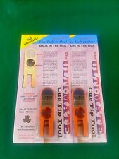 2 NEW ORIGINAL ULTIMATE TIP TOOLS - ORANGE ULTI-MATE POOL CUE TIP SHAPER SCUFFER