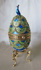 Authentic Goose Peacock Egg, Music Trinket Box, Kingspoint Designs,Green, 30669