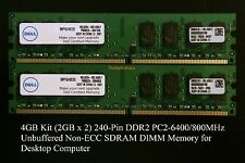 4GB Set (2GBx2) 240-PIN DDR2 PC2-6400/800MHz Non-ECC DIMM For Desktop