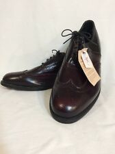 Executive Imperials Burgandy Leather Wing Tip Oxfords Sz 14 EE Extra Wide