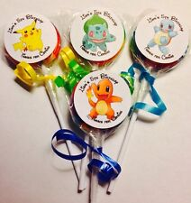 Pokemon Swirl/Twirl Lollipop Candy/Party Favor Personalized 12 Count
