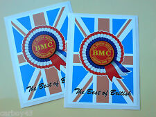 BMC Rosette Best of British Classic Retro Car Decals Stickers 2 off 95mm