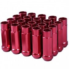 GSP M12 X 1.5mm Type-X 60MM Red Aluminum Wheel Lug Nuts Fit IS300 GS300 SC430 ES