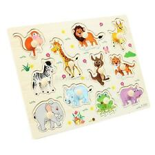 Kids DIY Zoo Animals 3D Wooden Jigsaw Puzzle Baby Kids Children Educational Toy