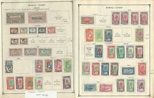 Somali Coast Collection 1894 to 1940 on 4 Scott International Pages, French
