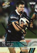 Signed 2008 PENRITH PANTHERS NRL Card TIM GRANT Centenary