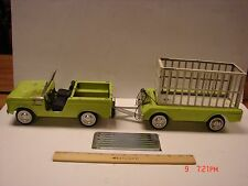 VINTAGE TRUCK NYLINT FORD BRONCO SAFARI HUNT TRAILER CAGE RESTORE CUSTOMIZE