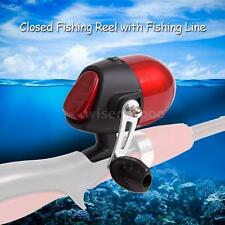 Closed Face Fishing Reel Fishing Spinning Reel No Bearing with Fishing Line K8E0