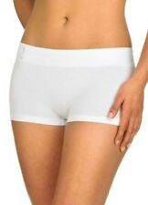 Ambra Bodysoft Boyleg Seamfree Briefs Size 10-12 In White RRP £8