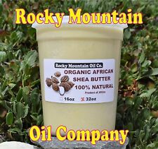 100% ORGANIC VIRGIN RAW AFRICAN SHEA BUTTER UNREFINED 32 oz 2 lb GRADE A